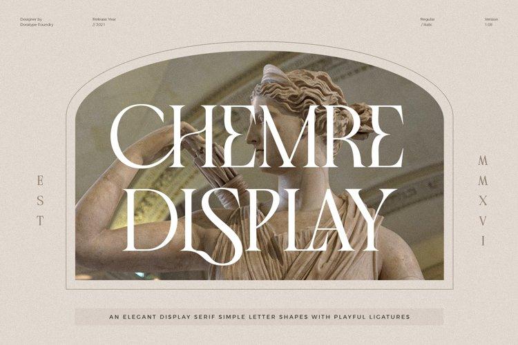 Chemre - Elegant Serif example image 1