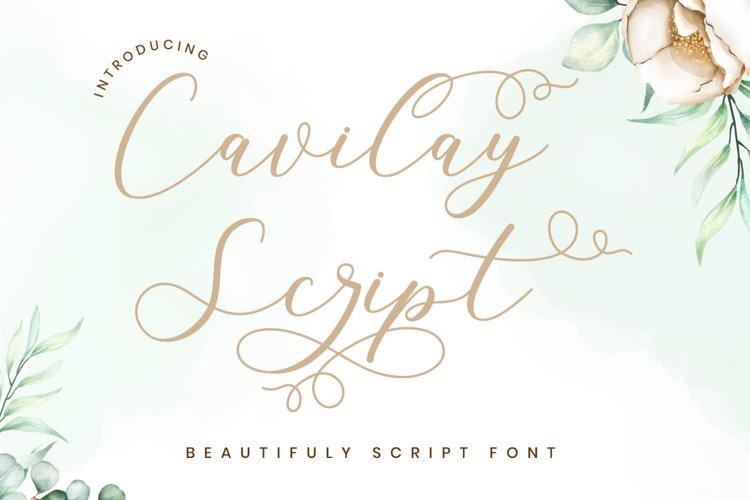 Cavilay Script - Wedding Font example image 1