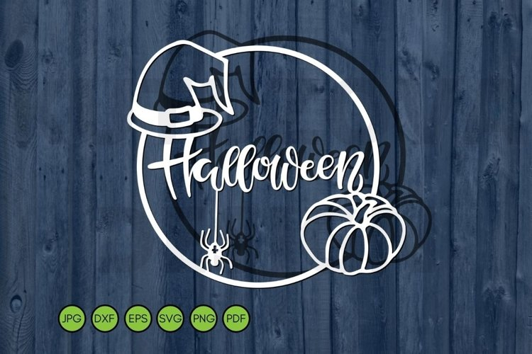Halloween SVG frame paper cutting template svg dxf eps. example image 1