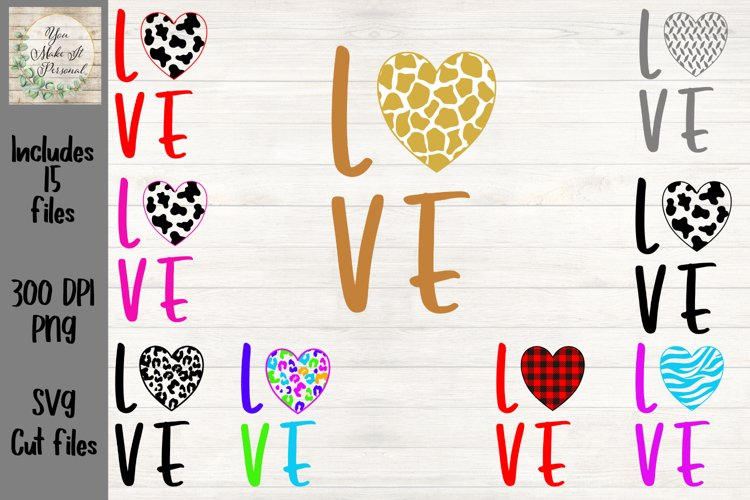 Valentine SVG, Valentines Day, LOVE Cut Files with Patterns
