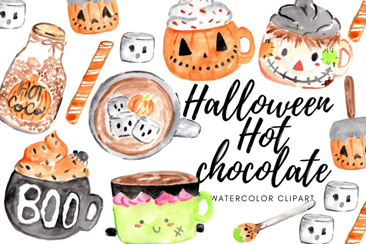 Halloween Hot Chocolate food clipart example image 1