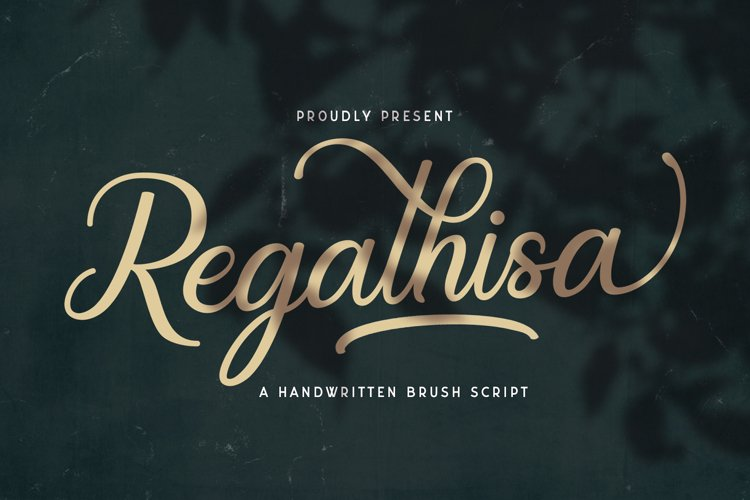 Regalhisa - Calligraphy Script Font example image 1