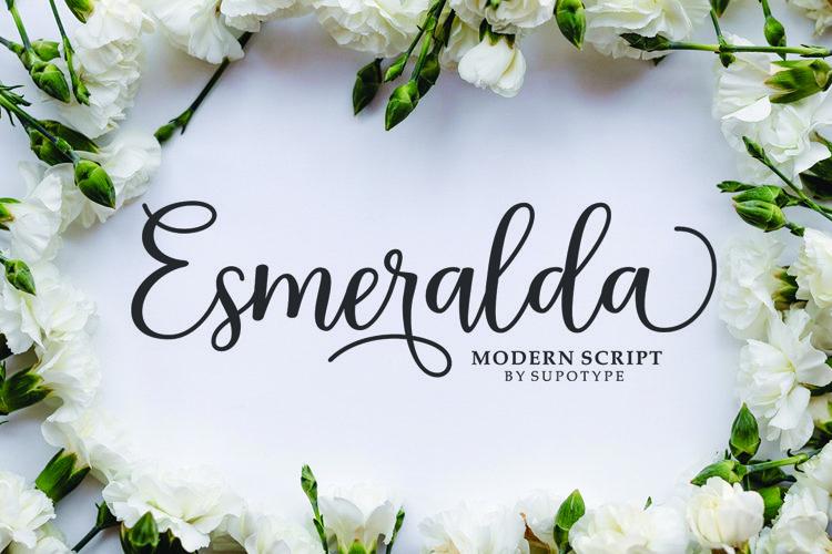 Esmeralda Script - Free Font Of The Week Font