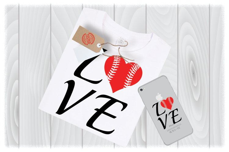 Love Softball SVG Files for Cricut Designs | Sport SVG example image 1