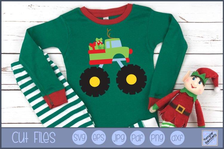 Christmas Monster Truck - SVG, Clipart, Printable