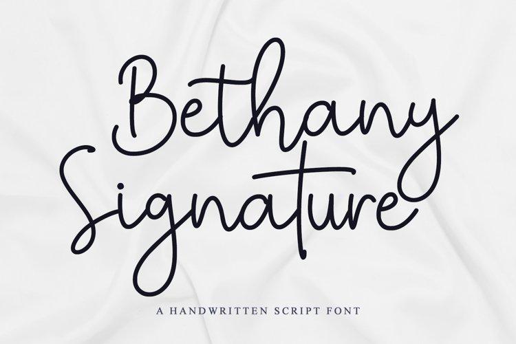 Bethany Signature example image 1
