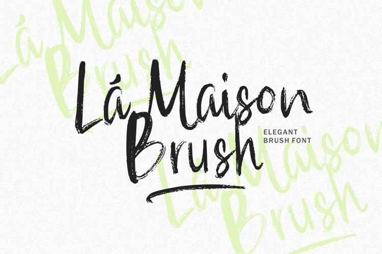 Web Font - La Maison Brush example image 1