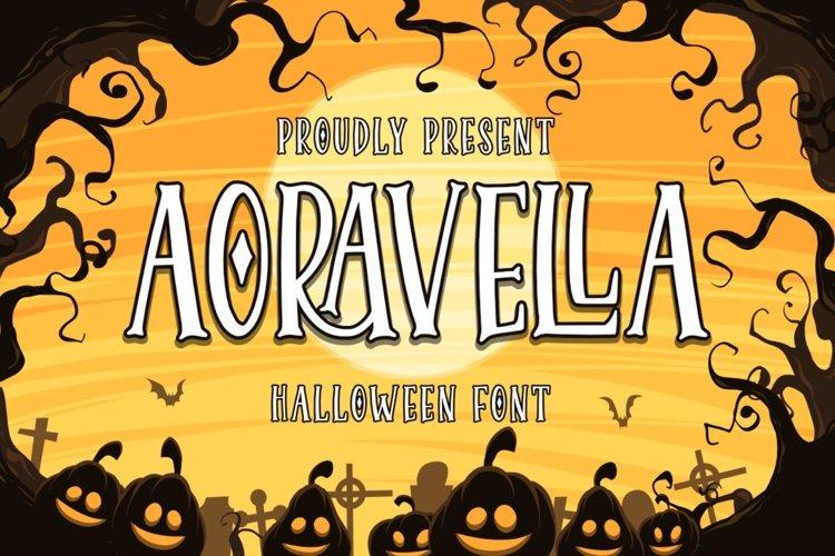 Aoravella - Halloween Font example image 1