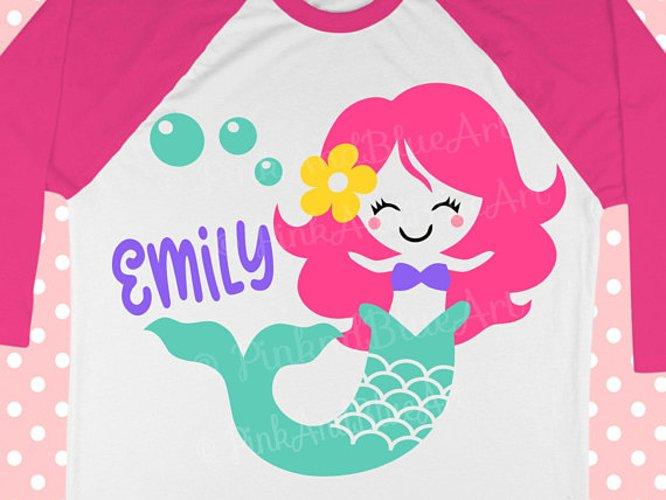 Mermaid SVG - Birthday Svg - SVG mermaid - Summer design - Girl svg example image 1