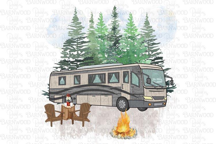 Motorhome Camping Scene