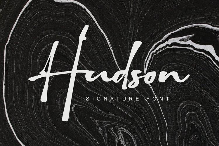 Hudson - Signature font example image 1