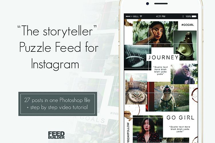 """Instagram Puzzle Feed Template """"The Storyteller"""" example image 1"""