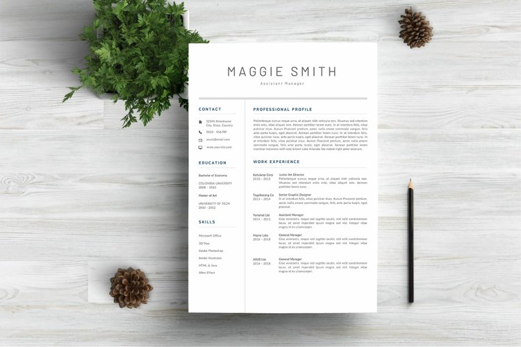 NEW Professional RESUME TEMPLATE BONUS Cover Letter example image 1