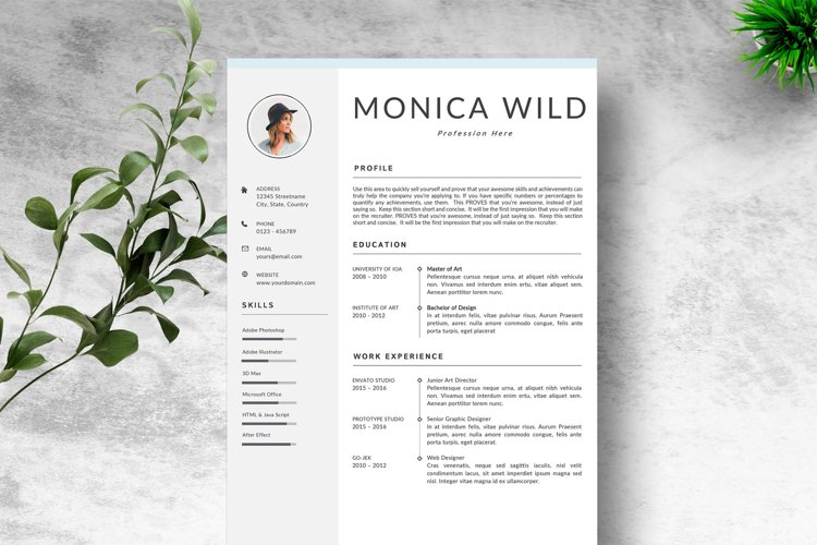 Creative Resume Template CV example image 1