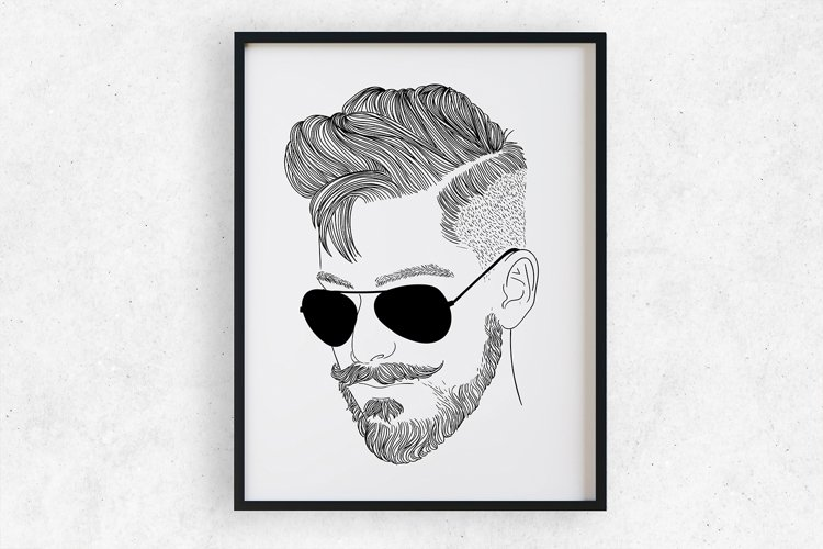 Wall art - modern man fashion example image 1