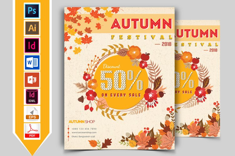 Autumn Fall Flyer Template Vol-01 example image 1