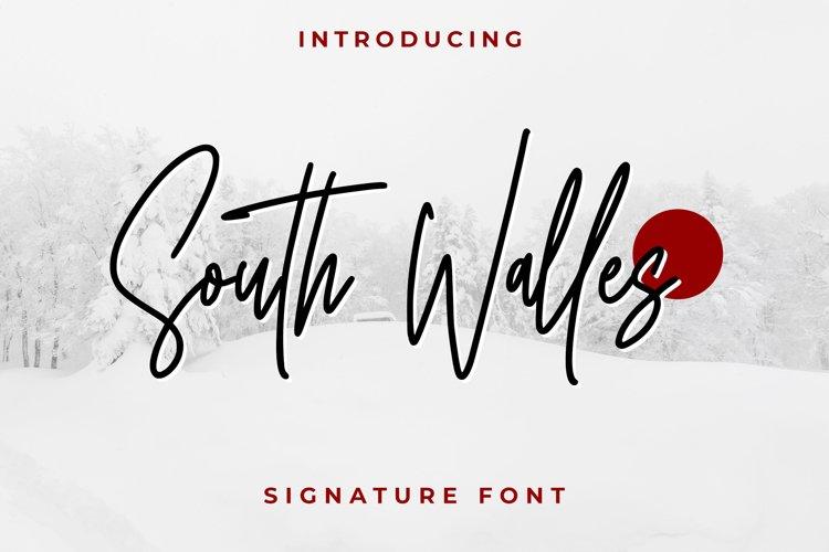 South Walles \\ Signature Font