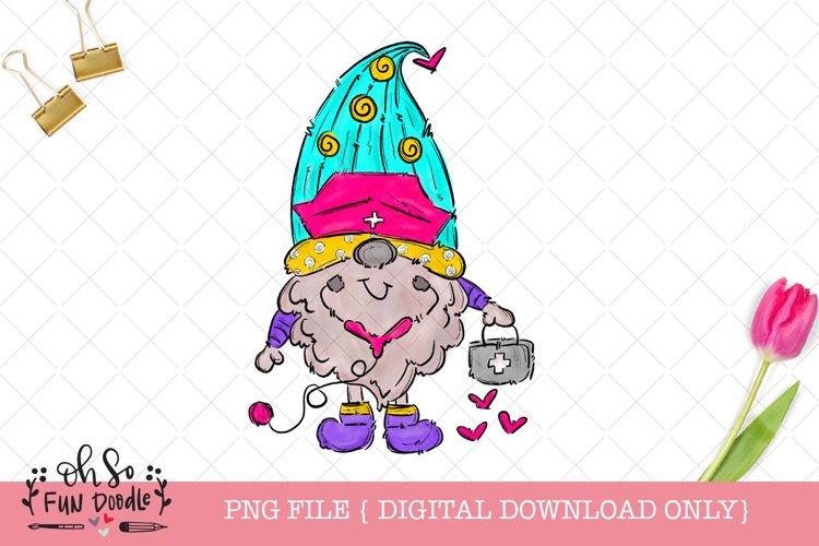 Nurse gnome, sublimation t shirt design, nurse png example image 1