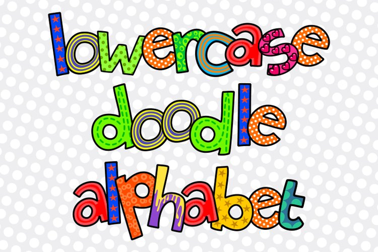 Hand Drawn Lowercase Alphabet Doodle Letters - Set 3