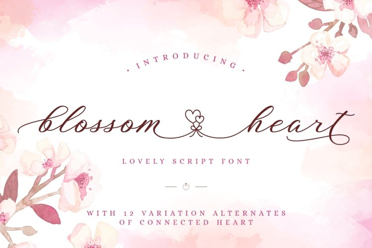Blossom Heart - Valentine Font example image 1