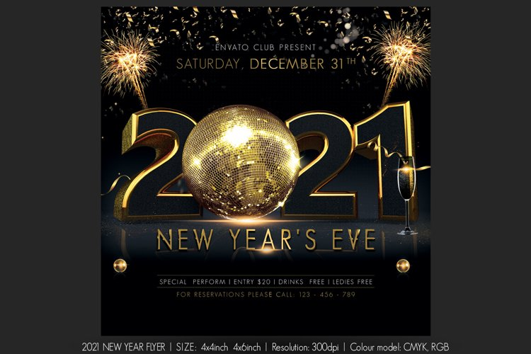 2021 New Year Flyer example image 1