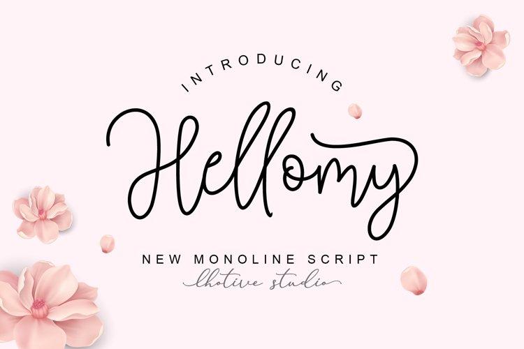 Hellomy Monoline Script