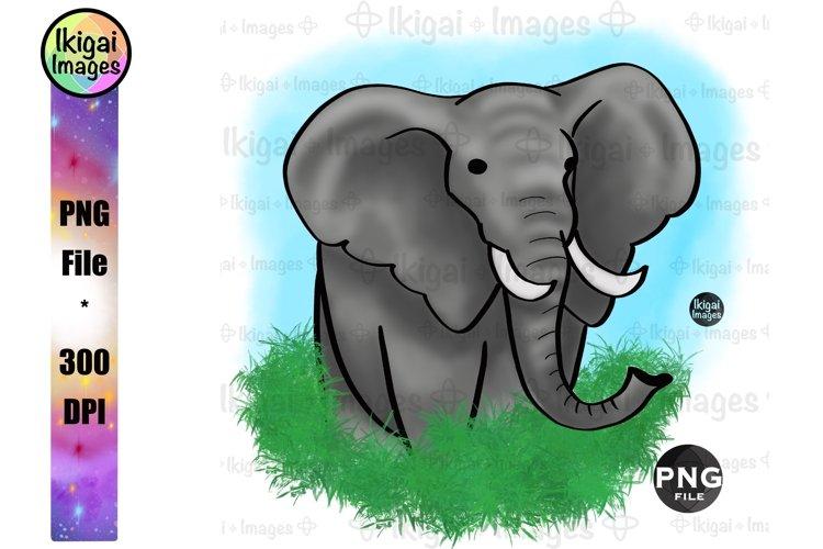 Elephant PNG, Safari Animal Sublimation, Printable Wall Art
