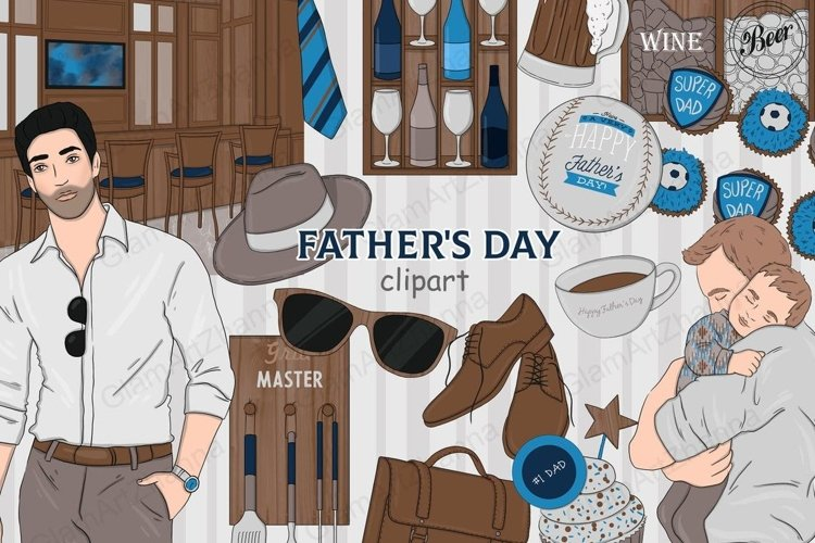 Fathers Day CLIPART Planner Girl Film Friends Comics - PNG