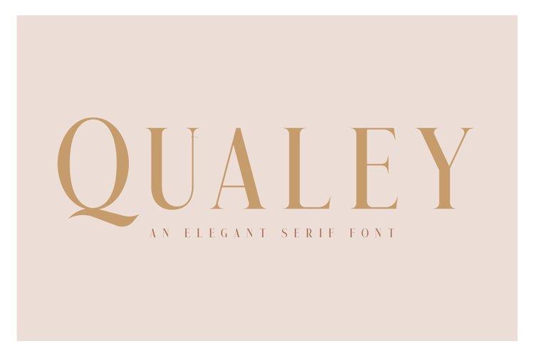 Qualey - Elegant Serif Font example image 1