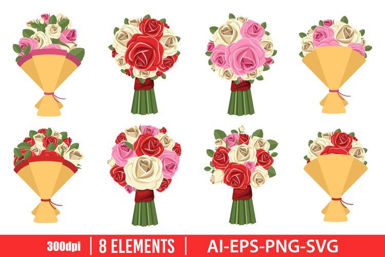 Flower bouquet clipart vector design illustration