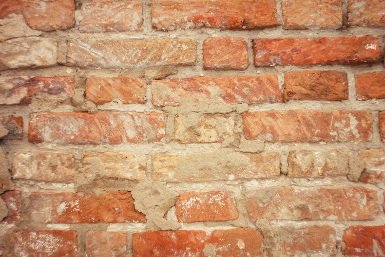 texture of old red brick, brickwork example image 1