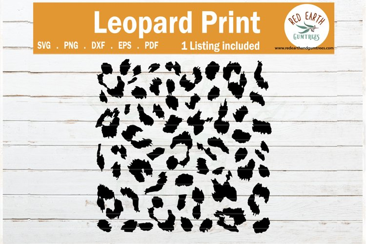Leopard spots print svg, cheetah print template SVG,PNG,DXF