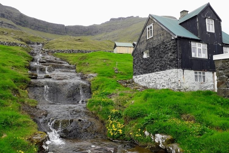 Waterfall pictures Faroe Islands Nature photos example