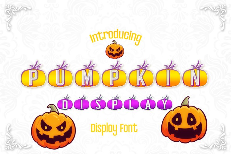 Pumpkin Display Font example image 1