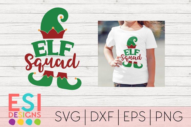 Christmas SVG|Elf Squad Phrase Design|SVG DXF EPS PNG example image 1