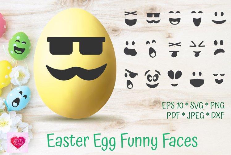 Easter Egg Funny Faces SVG. Easter Kids. Easter Vinyl Decals