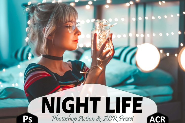 10 Night Life Photoshop Actions And ACR Presets, nighttime example image 1