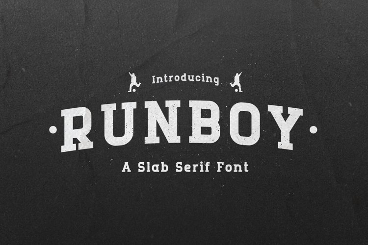 Runboy - Strong Slab Serif Font example image 1
