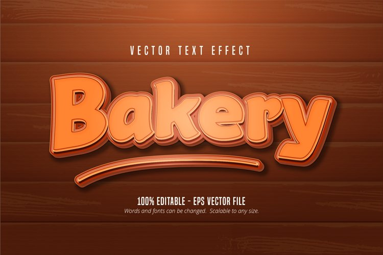 Bakery text, pastry style editable text effect example image 1