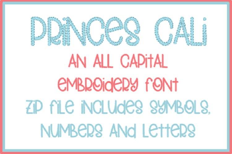 PRINCESS CALI EMBROIDERY FONT example image 1