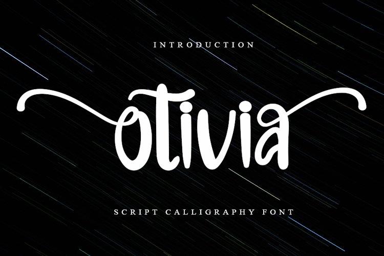 Otivia   Beauatiful Handwritten Font example image 1