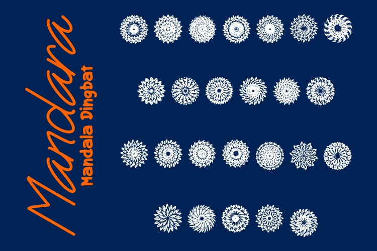 Mandara - Mandala Dingbat example image 1