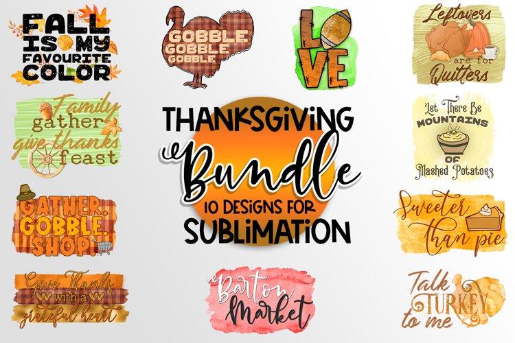 Thanksgiving Bundle for Sublimation