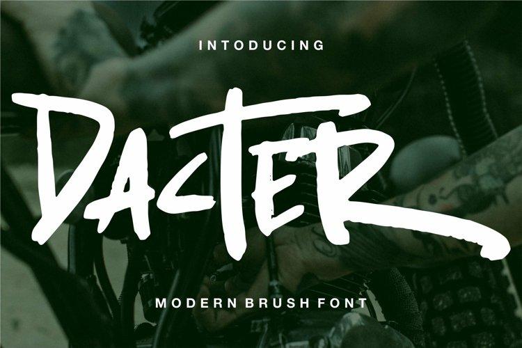 Web Font Dacter - Modern Brush Font example image 1
