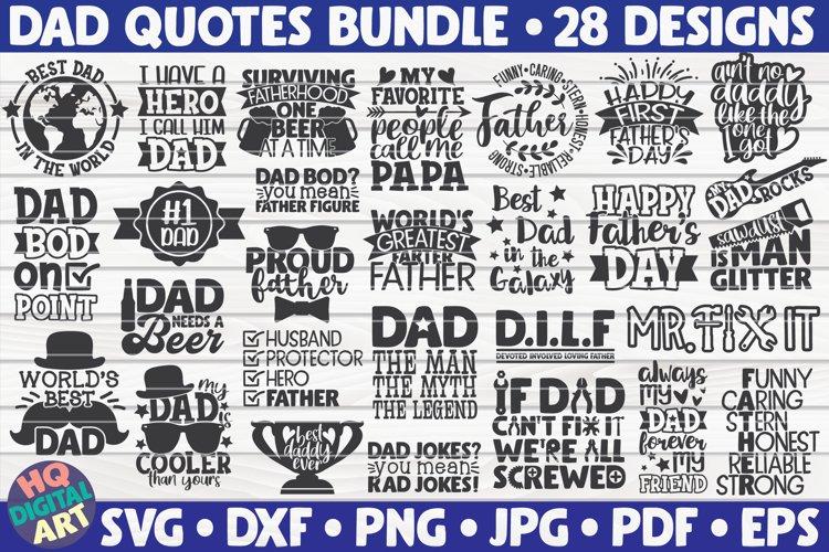 Dad Quotes Bundle SVG | 28 designs | Fathers Day SVG Bundle
