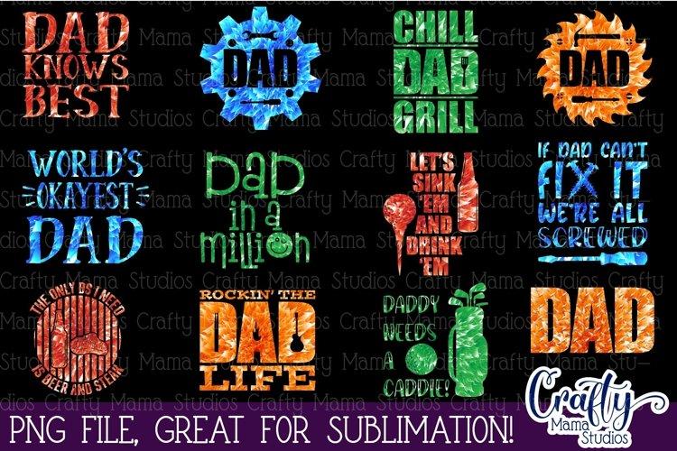 Dad Sublimation Bundle, Dad Life PNG, Fathers Day Bundle