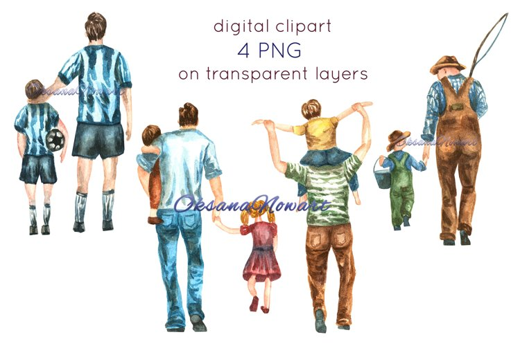 Fathers Day clipart, Father son clipart, Dad clipart