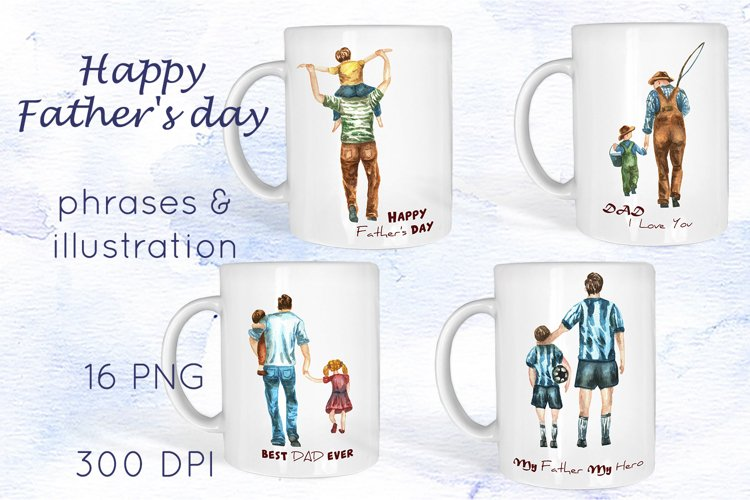 Dad clipart Mug Sublimation Fathers Day clipart