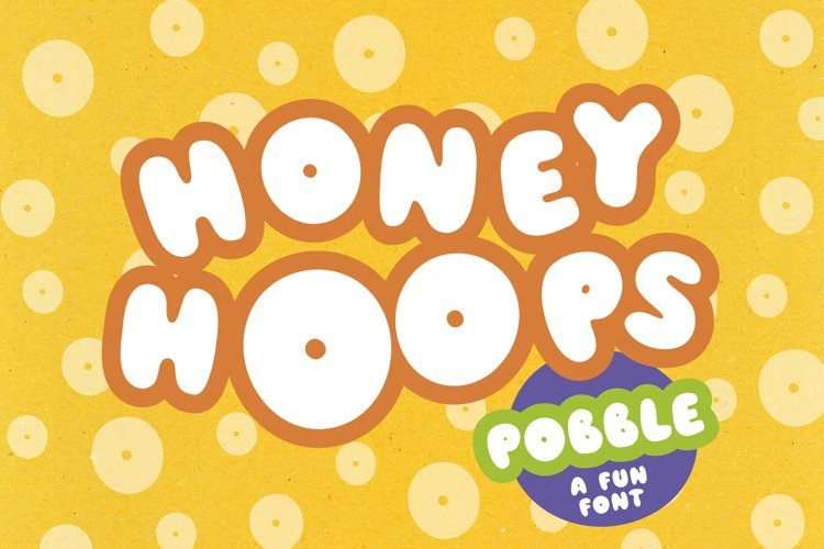 Pobble - cartoon comic style font