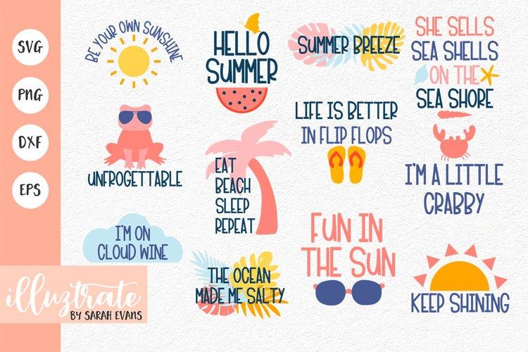 Summer Quotes SVG Bundle   Summer SVG   Beach SVG